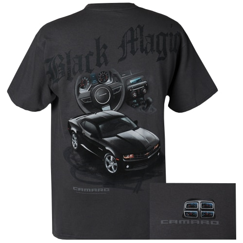 c2afbd19 Chevrolet Camaro Black Magic T-shirt showing gauges - GM Certified