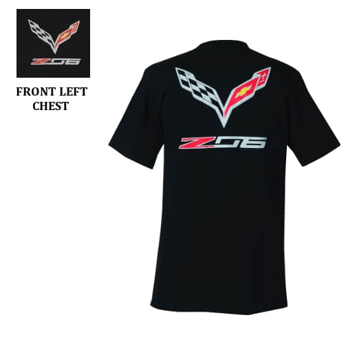 Chevrolet C7 Z06 Corvette Stingray Flag Logo T-shirt