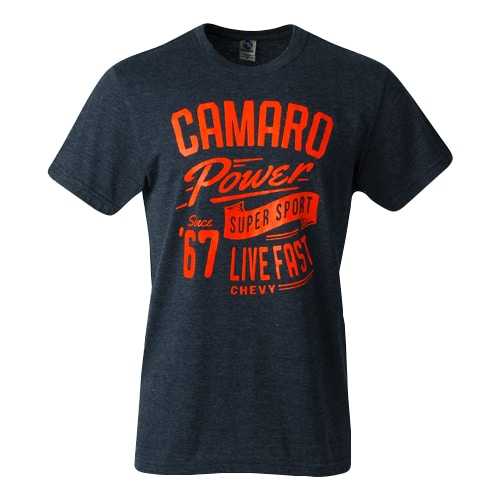 **Clearance** Chevrolet Camaro Power T-shirt - Live Fast - Super Sport SS - Since 1967