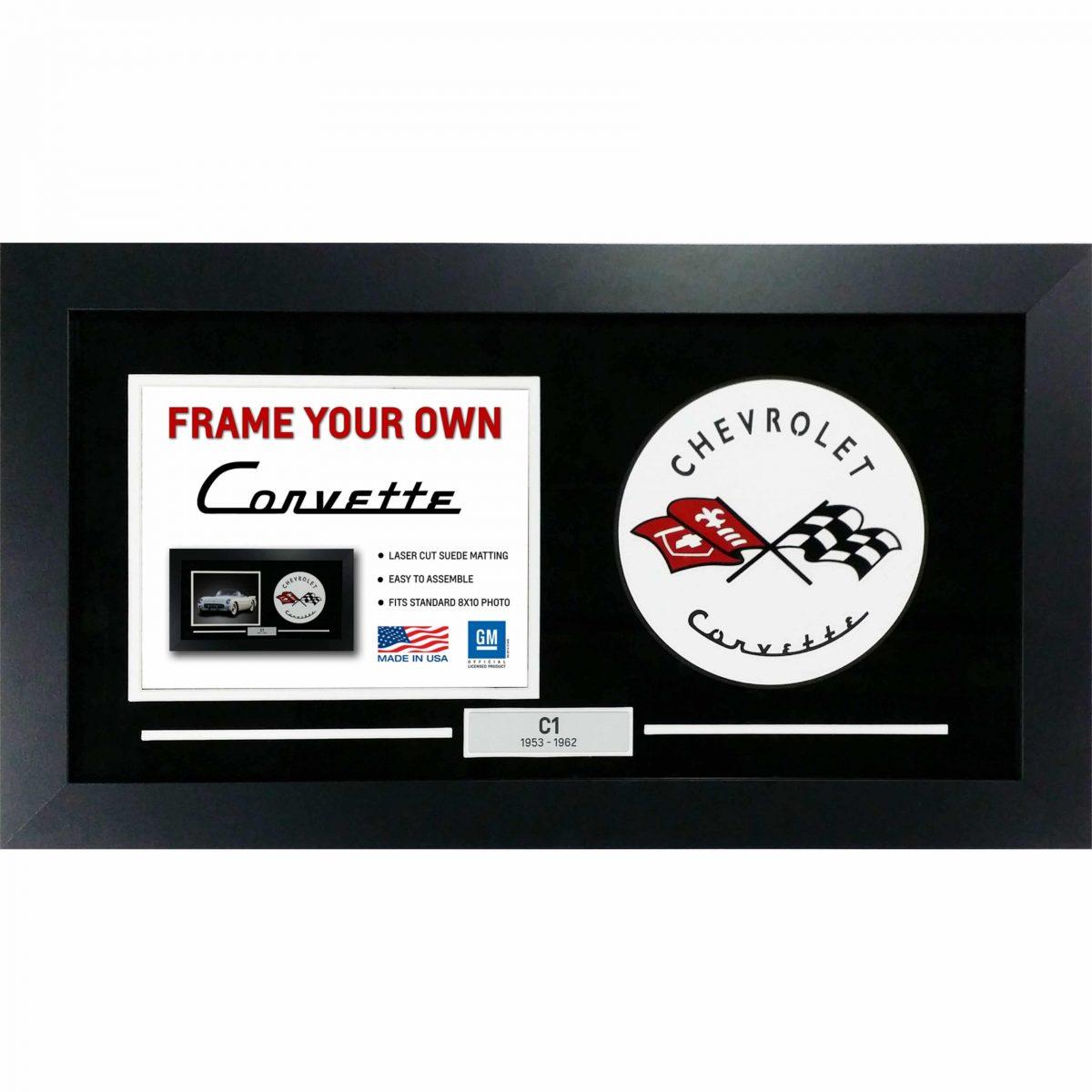 Corvette Generation Emblem Flags - Frame Your Photo - C1