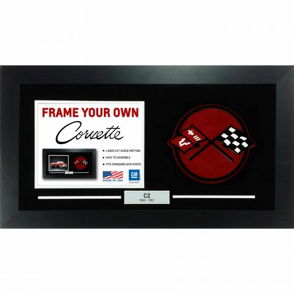Corvette Generation Emblem Flags - Frame Your Photo - C2