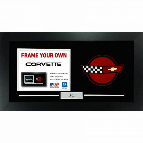 Corvette Generation Emblem Flags - Frame Your Photo - C4