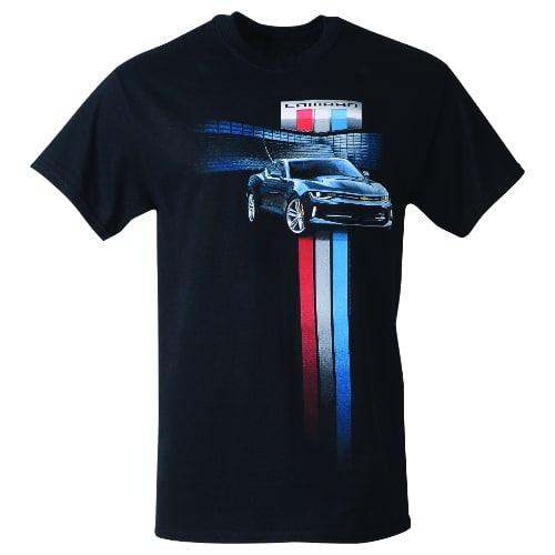 dab3e6a4 Chevrolet Camaro Racing Stripes T-shirt - Tri-Bar Emblem