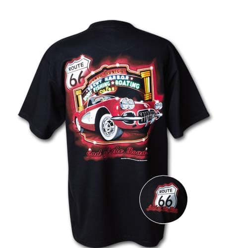 Chevrolet C1 Corvette - Route 66 (Rt. 66) t-shirt - End of the Road