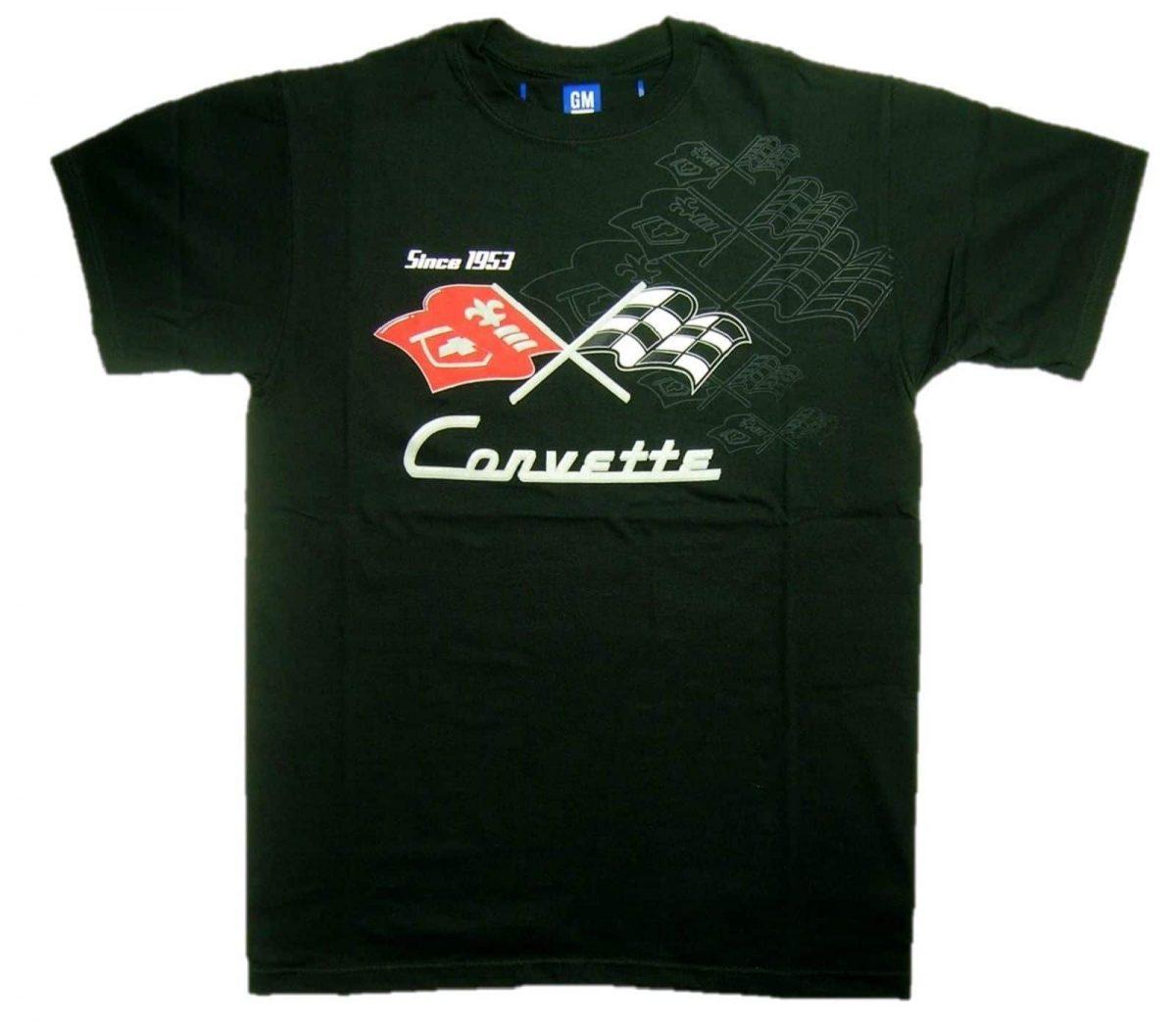 Chevrolet Corvette Generations - Since 1953 - C1, C2, C3, C4, C5 - Flag Emblems