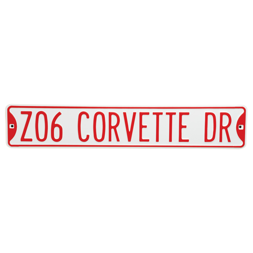 Chevrolet Corvette Metal Sign - Z06 Corvette Dr